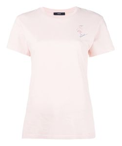Diesel | T-Sully-Ap Flamingo Print T-Shirt Small Cotton