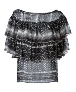 Plein Sud Jeanius | Ruffled Pattern Blouse 42