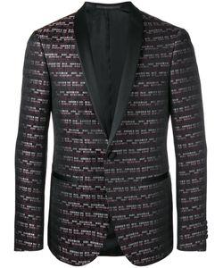 Pal Zileri | Striped Jacquard Blazer Size 52