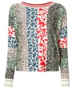 Sonia Rykiel | Animal Pattern Sweatshirt Medium Silk/Cashmere/Wool