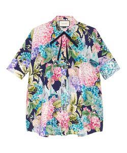 Gucci   Hydrangea Print Cape Shirt Size 40