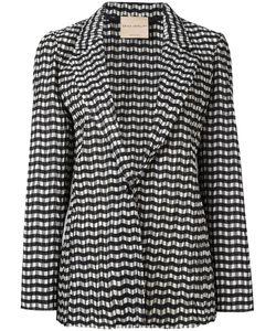 Erika Cavallini | Zig-Zag Pattern Blazer 42 Cotton/Polyester/Polyamide