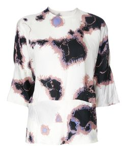 Theatre Products   Printed Three-Quarter Sleeve Blouse Cupro