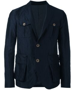 Giorgio Armani | Button-Embellished Blazer 52 Cotton/Silk/Steel/Polyester