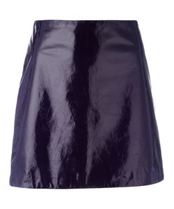 Nina Ricci | Mini A-Line Skirt 34 Lamb Skin/Silk