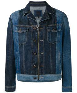 Lanvin | Two-Tone Zipped Denim Jacket 50 Cotton