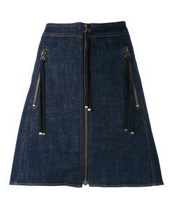 Kenzo | Zip A-Line Skirt 34