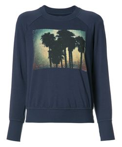 Nsf | Palm Tree Print Sweatshirt Medium Cotton/Modal/Spandex/Elastane