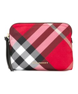 Burberry | House Check Clutch Polyester/Calf Leather