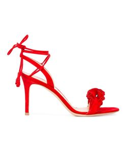 Gianvito Rossi | Ruffled Detail Sandals 39 Suede/Leather