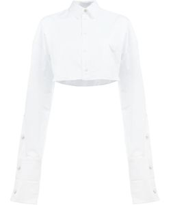 Y / PROJECT | Extended Sleeve Cropped Shirt Size 36
