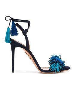 Aquazzura | Ankle Strap Stiletto Sandals 41 Suede/Leather