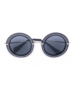 Miu Miu Eyewear   Круглые Солнцезащитные Очки В Массивной Оправе