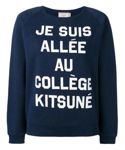 Maison Kitsune   Maison Kitsuné Quote Print Sweatshirt Small Cotton