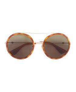 Gucci Eyewear | Round Frame Metal Sunglasses Size