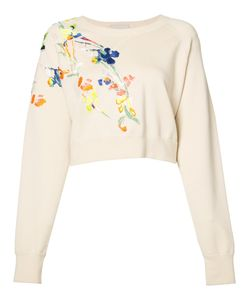 Jason Wu | Embroidered Flowers Sweatshirt Size Medium