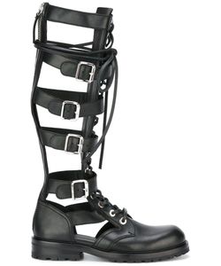 Diesel Black Gold | Gladiator Boots 37 Calf Leather/Leather/Rubber
