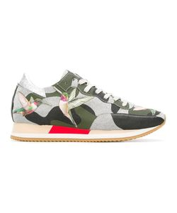 Philippe Model | Camouflage Print Sneakers 40 Leather/Pvc/Rubber