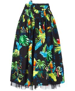 Marc Jacobs | Parrot Print Belted Full Skirt 4