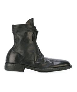 GUIDI | Lace-Up Boots 45 Leather