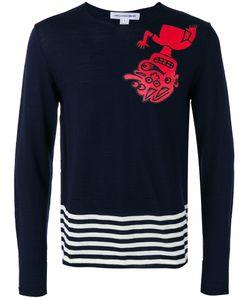 Comme Des Garcons | Comme Des Garçons Shirt Striped Detail Jumper Large