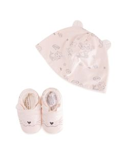 Little Marc Jacobs | Cat Print Hat Set Infant 3 Mth