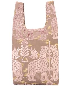 Hayward | Patterned Shopper Tote Calf Suede/Silk Velvet