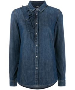 Diesel | Ruffle Detail Denim Shirt Xs Cotton