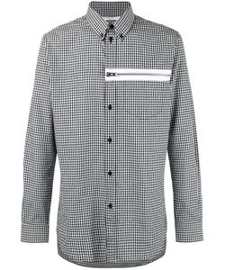 Givenchy | Gingham Print Zip Front Shirt Mens Size 39 Cotton