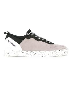 Hogan Rebel | Splatter Print Lace-Up Sneakers 10 Leather/Nylon/Rubber
