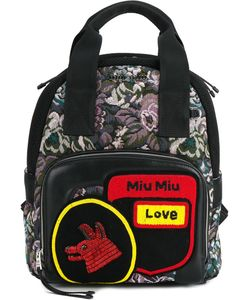 Miu Miu | Small Jacquard Backpack