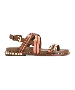 Ash | Massai Sandals 37 Calf Leather/Leather/Metal