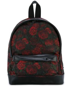PALM ANGELS | Roses Print Backpack Polyamide/Polyurethane/Calf Leather