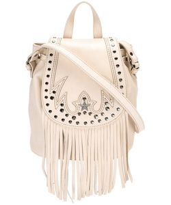 Just Cavalli | Fringed Shoulder Bag Calf Leather