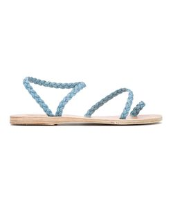 ANCIENT GREEK SANDALS | Eleftheria Denim Sandals Size 36 Calf