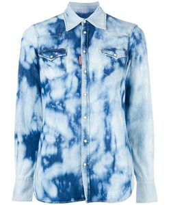 Dsquared2 | Bleached Denim Shirt 40 Cotton/Spandex/Elastane