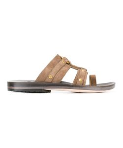 CALLEEN CORDERO | Stud Embellished Sandals 7.5 Suede/Leather/Rubber