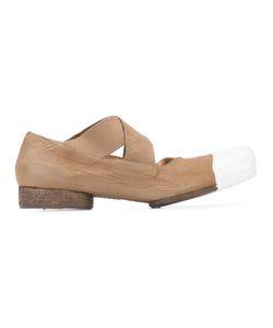 UMA WANG | Contrast Toe Ballerinas