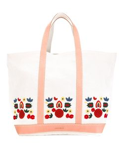 Vanessa Bruno | Leather-Trimmed Embroidered Tote