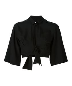 FACETASM | Cropped Bow Shirt 1 Tencel