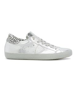 Philippe Model | Leopard Print Detail Sneakers 38 Leather/Rubber/Cotton