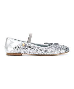 Chiara Ferragni | Glitter Strap Ballerina Shoes 38