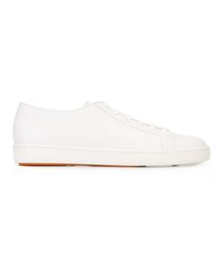Santoni | Lace-Up Sneakers 41 Calf Leather/Leather/Rubber