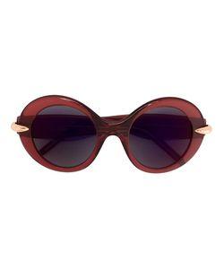 POMELLATO | Contrast Clip Oversized Sunglasses