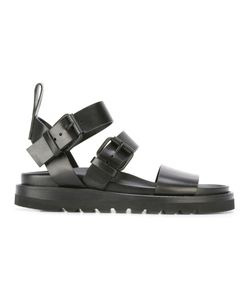Ann Demeulemeester | Buckled Flat Sandals 37 Leather/Rubber