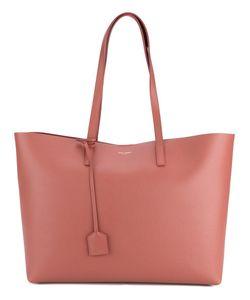Saint Laurent | Leather Shopping Tote Leather/Cotton