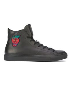 Paul Smith | Strawberry Hi-Top Sneakers 41 Calf Leather/Rubber/Leather