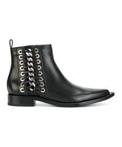 Alexander McQueen | Ботинки С Плетеной Отделкой