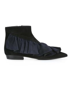 J.W. Anderson | J.W.Anderson Ruffled Ankle Boots 40 Leather/Suede