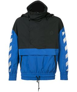 Moncler x Off-White   Vinyl-Panelled Printed Jacket Size 2